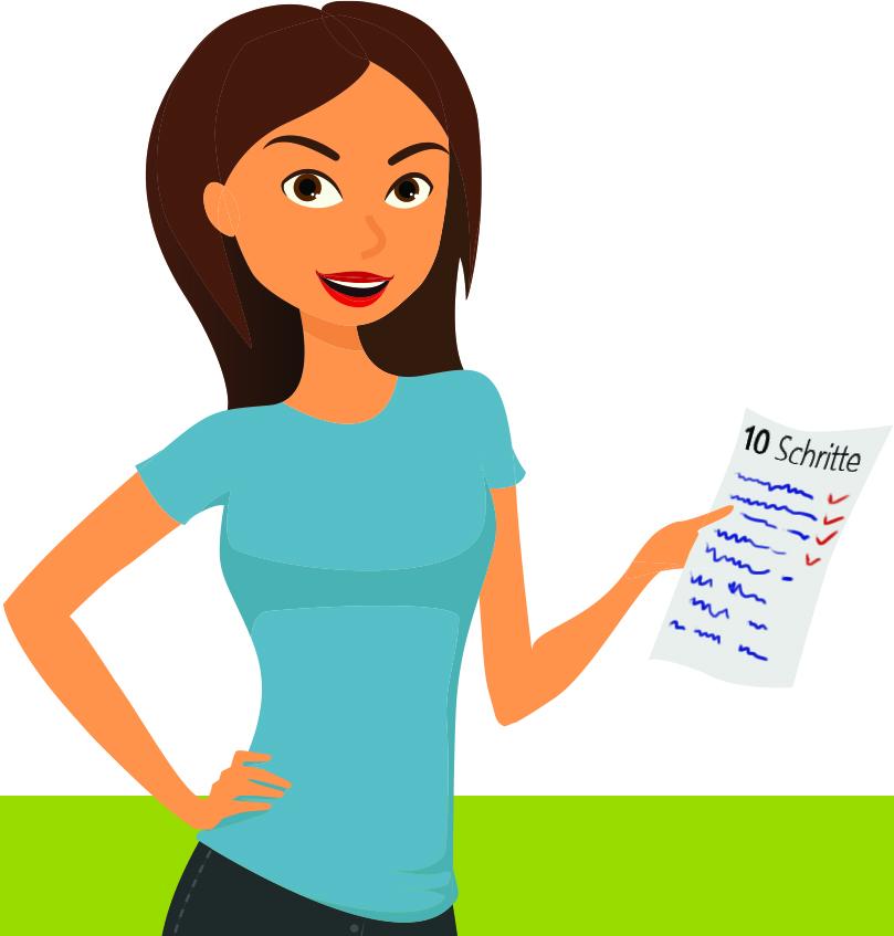 Sue mit der Checkliste 10 Schritte zum E-Learning