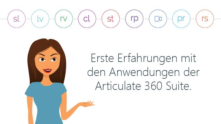 Sue Porter mit den Anwendungen der Articulate 360 Suite