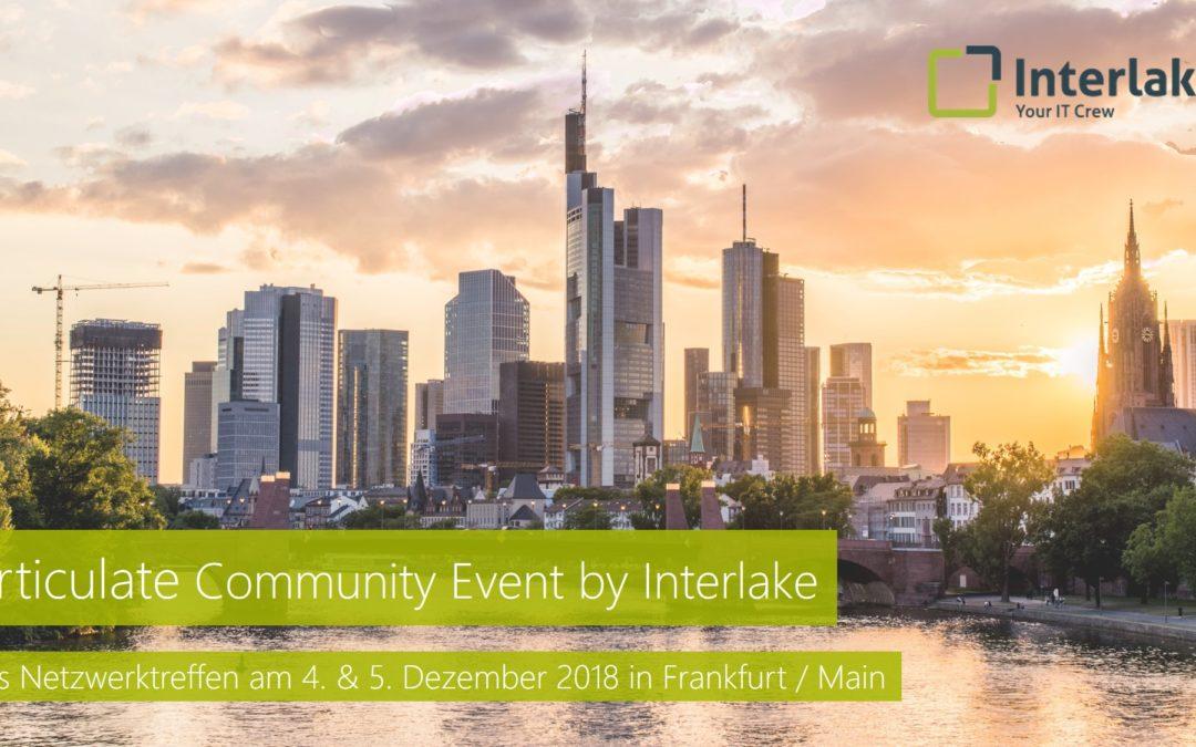 Articulate Community Event by Interlake – 4. & 5. Dezember in Frankfurt