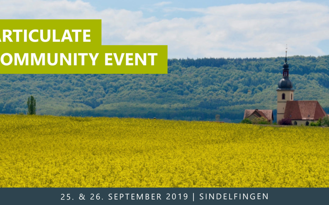 Articulate Community Event 2019 im September