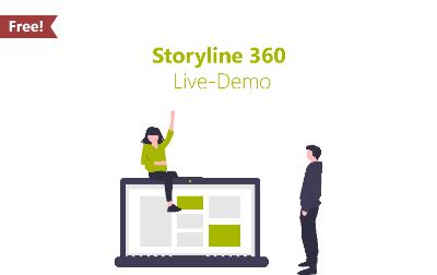 Unsere kostenlose Storyline 360 Live Demo