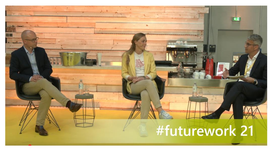 Foto der Panelteilnehmer auf der #futurework21