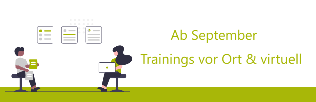 Illustration, Ab September Trainings vor Ort und virtuell