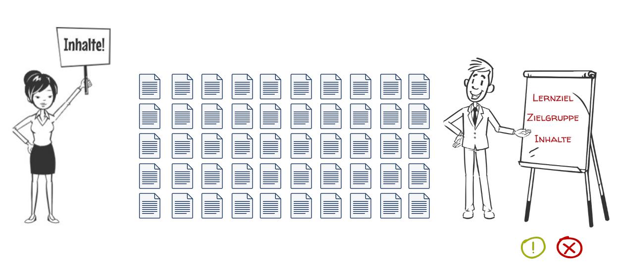 Illustration, zwei Personen, Dokumente