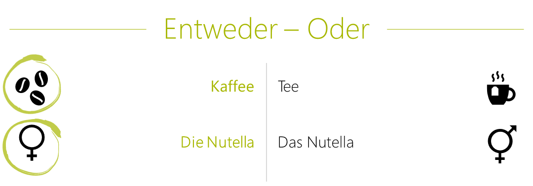 Johann Either Or Coffee And The Nutella